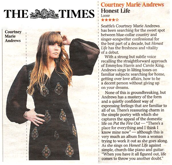 Courtney Marie Andrews - The Times - 20 Jan 2017