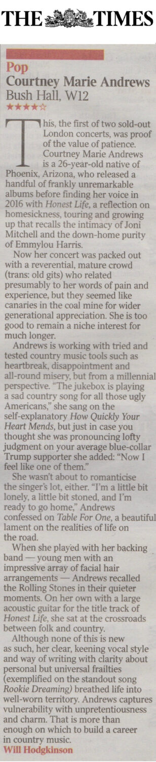 Courtney Marie Andrews - The Times - 2017