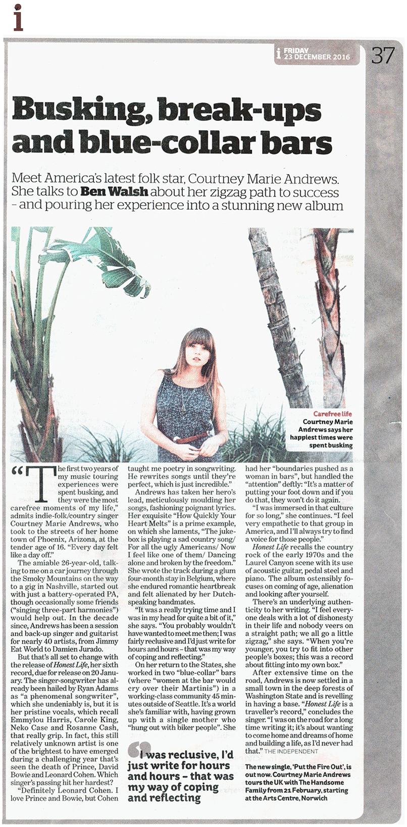 Courtney Marie Andrews - Independent - 23 Dec 2016