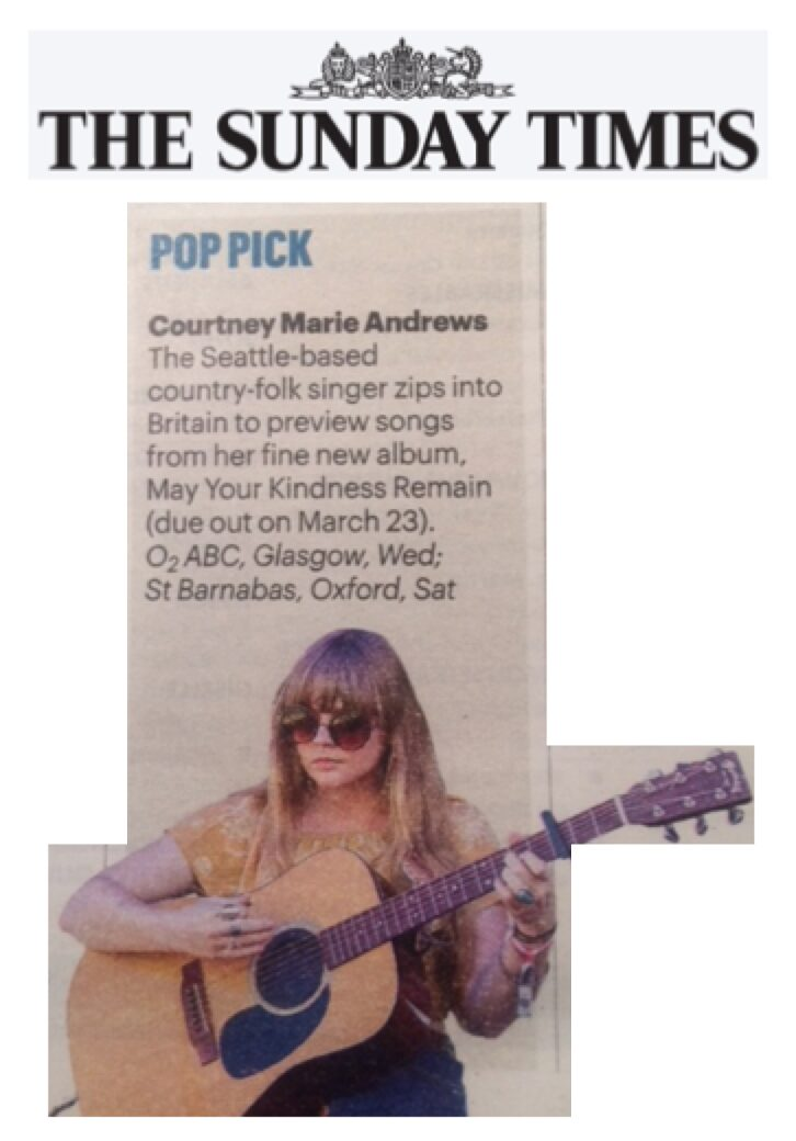 Courtney Marie Andrews - The Sunday Times - Jan 18
