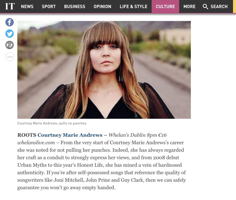 Courtney Marie Andrews - Irish Times - Aug 2017