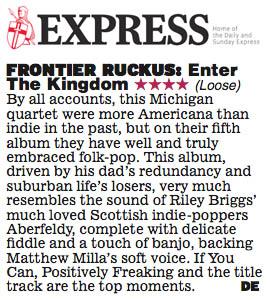 Frontier Ruckus - Scottish Express review