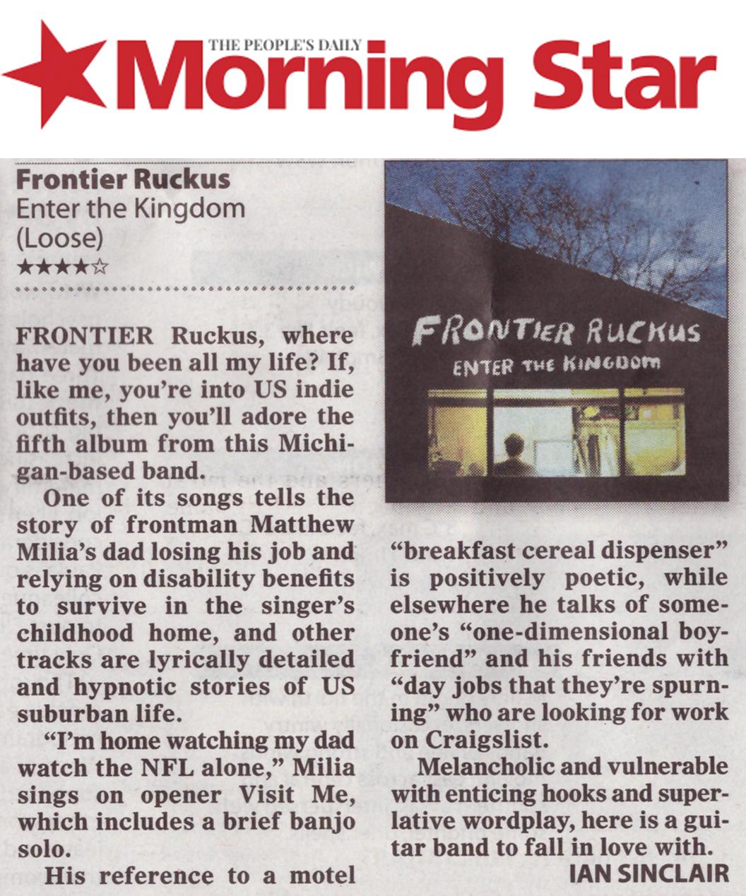 Frontier Ruckus - Morning Star - 28 February 2017
