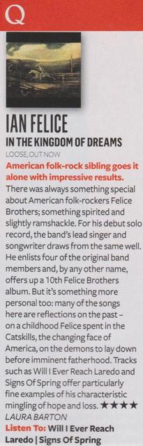 Ian Felice - Q magazine - September 2017