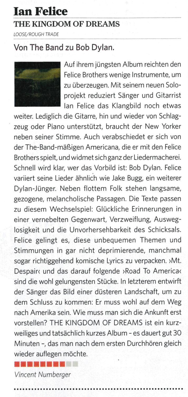 Ian Felice - Classic Rock Germany - Sep 2017