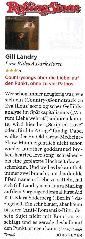 Gill Landry - Rolling Stone Germany - November2017