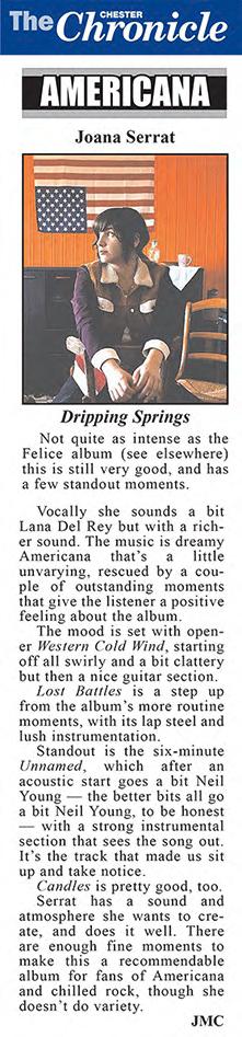 Joana Serrat - Chester Chronicle - Jan 2018