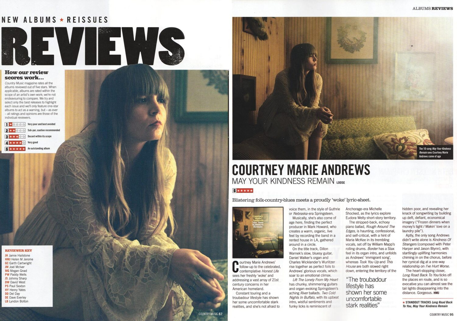 Courtney Marie Andrews -Country Music magazine - March 2018