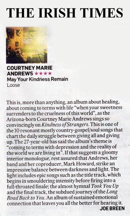 Courtney Marie Andrews - Irish Times - 16 March 2018