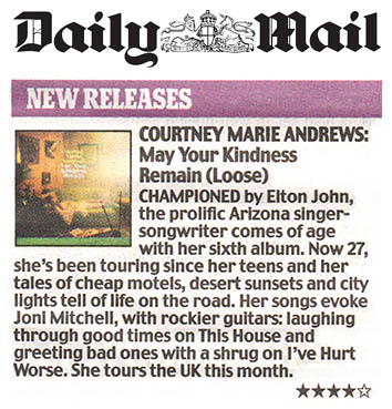 Courtney Marie Andrews - Daily Mail - 6 April 2018