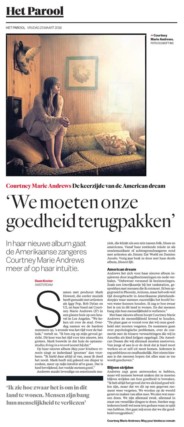 Courtney Marie Andrews - Parool - 23 March 2018