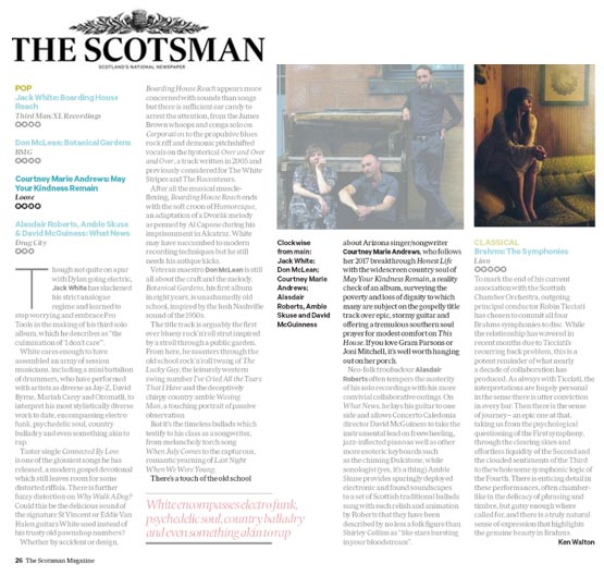 Courtney Marie Andrews  The Scotsman - 27 March 2018