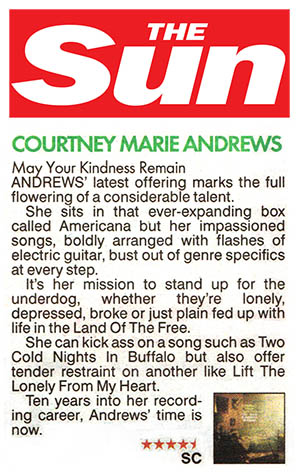 Courtney Marie Andrews - The Sun - 6 April 2018