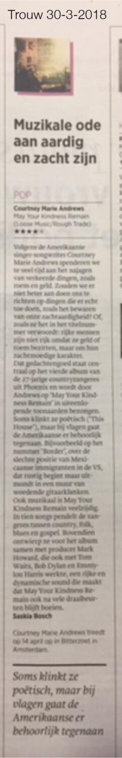 Courtney Marie Andrews - Trouw - 30 March 2018