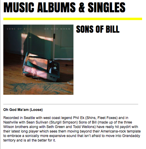 Sons of Bill - The Crack - June 2018