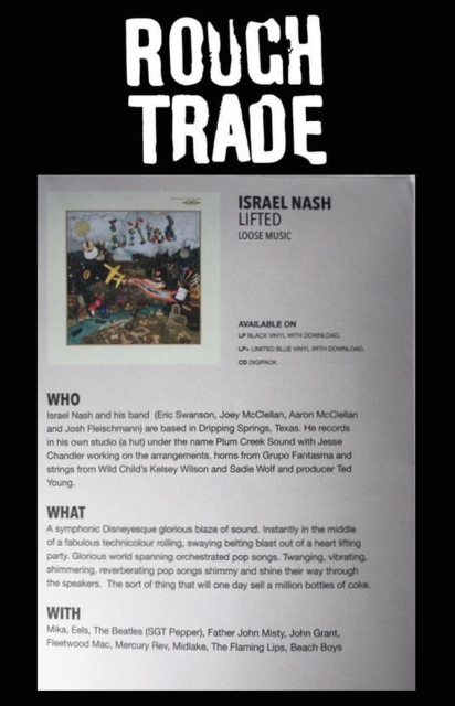 Israel Nash - Rough Trade Albums Of The Month - 30 July 2018
