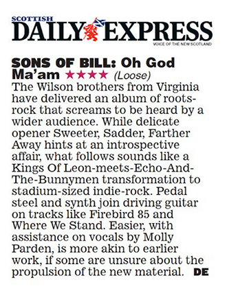 Sons of Bill - Scottish Daily Express - 6 July 2018