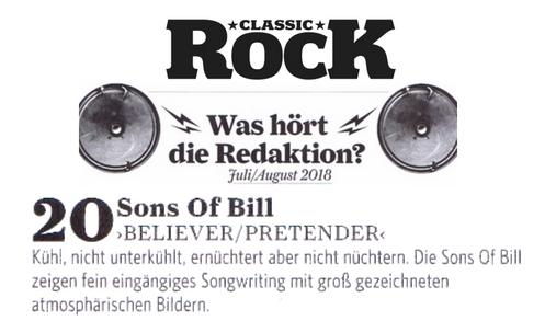 Sons Of Bill 20 - Classic Rock - 13:7:2018