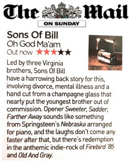 Sons Of Bill - Mail On Sunday - 22 July 2018