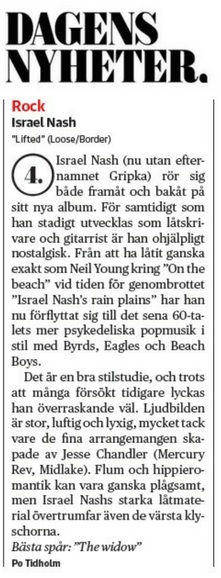 Israel Nash - Dagens Nyheter - 12 August 2018