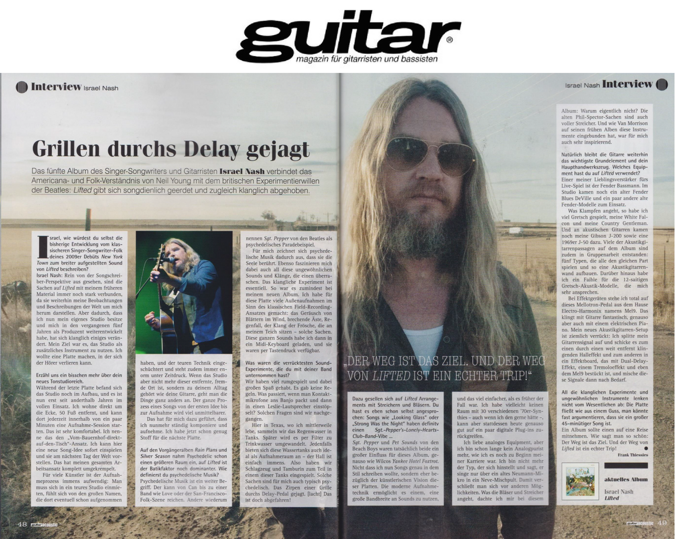 Israel Nash - Guitar Magazine - July 2018