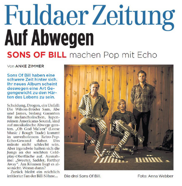 Sons Of Bill - Fuldaer Zeitung - 31 July 2018
