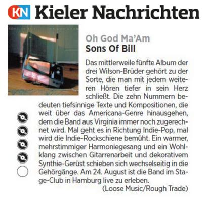 Sons Of Bill - Kieler Nachrichten - 31 July 2018