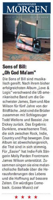 Sons Of Bill - Manheimer Morgen - 30 July 2018