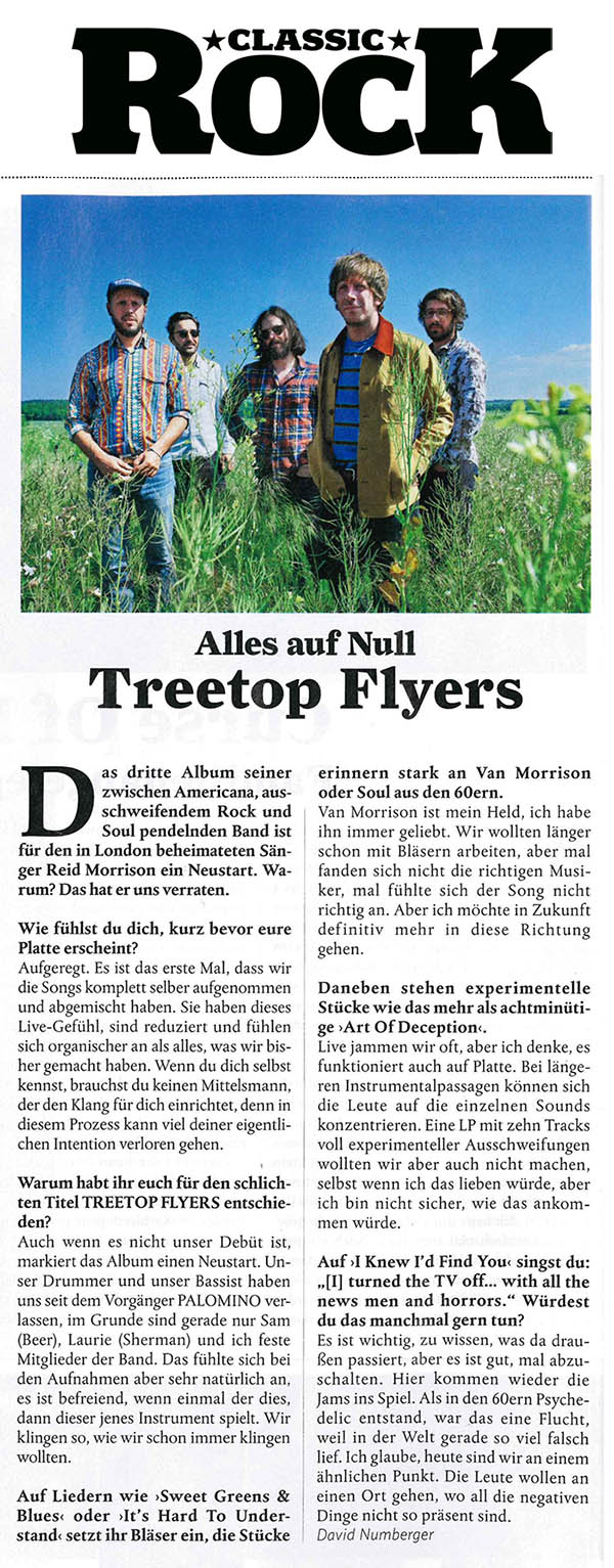 Treetop Flyers - Classic Rock Germany - September 2018