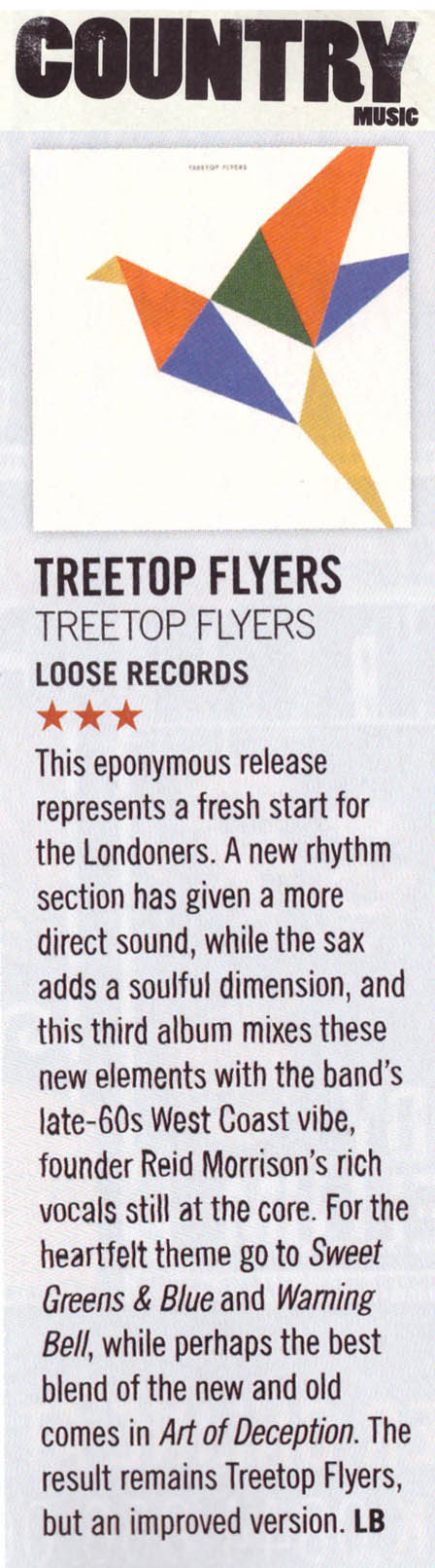 Treetop Flyers - Country Music Magazine - Sep 2018