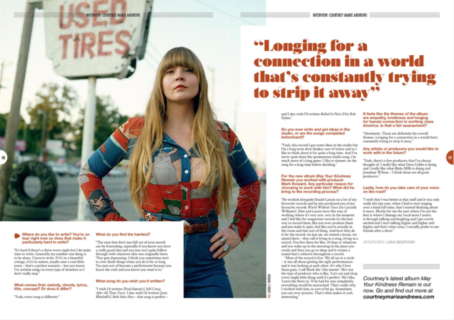 Courtney Marie Andrews - Songwriting Mag - Autumn 2018