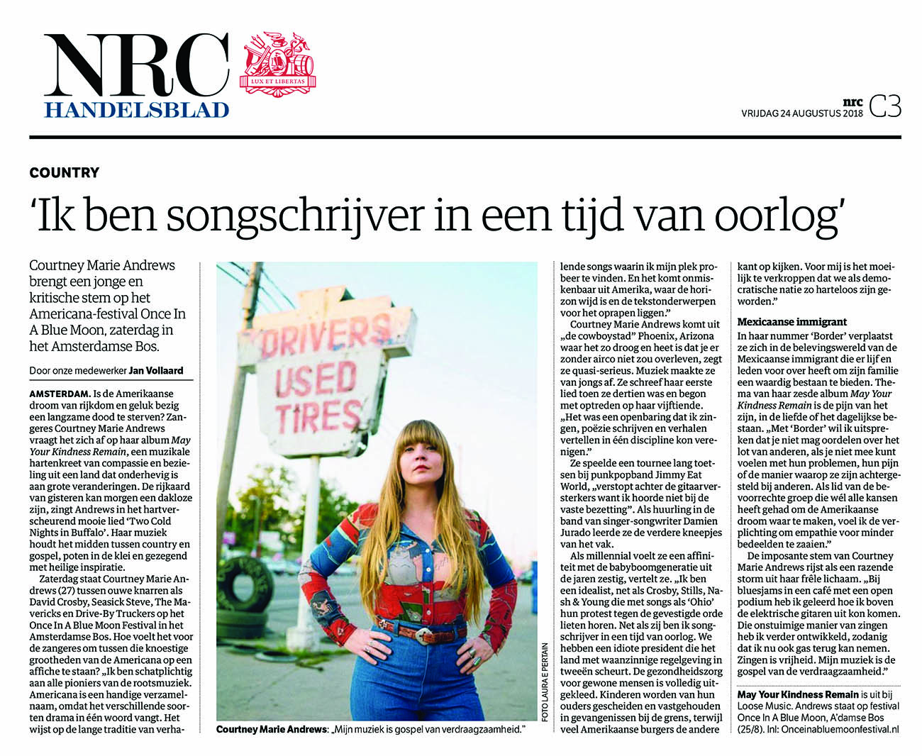 Courtney Marie Andrews - NRC - 24 August 2018