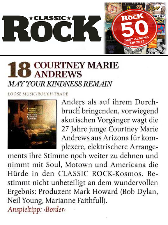 Courtney Marie Andrews - Classic Rock Germany - 2018