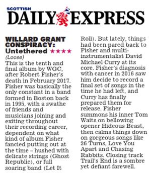Willard Grant Conspiracy - Scottish Daily Express - Dec28 2018