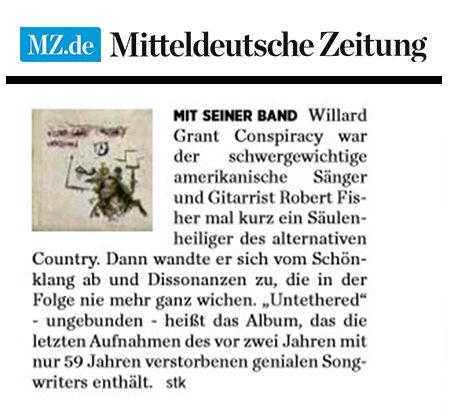 Willard Grant Conspiracy - MitteldeutscheZeitung - January 2019