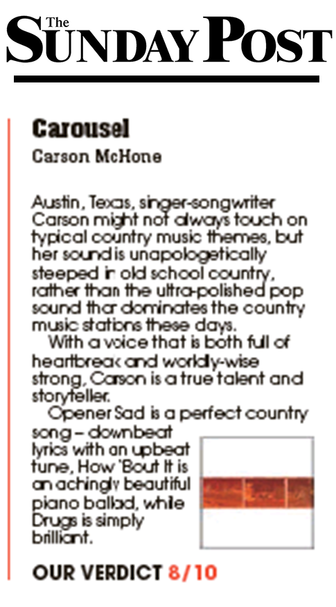 Carson McHone - Sunday Post - February 2019