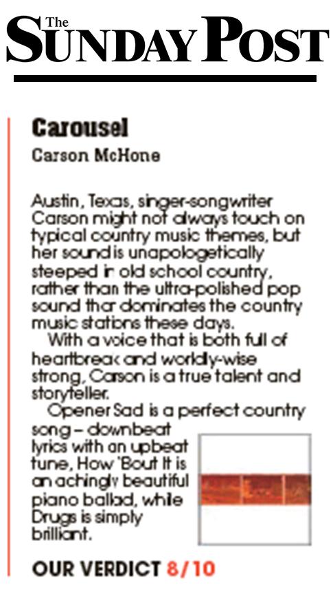 Carson McHone - Sunday Post - February 2019