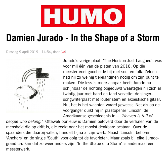 Damien Jurado - HUMO - April 2019