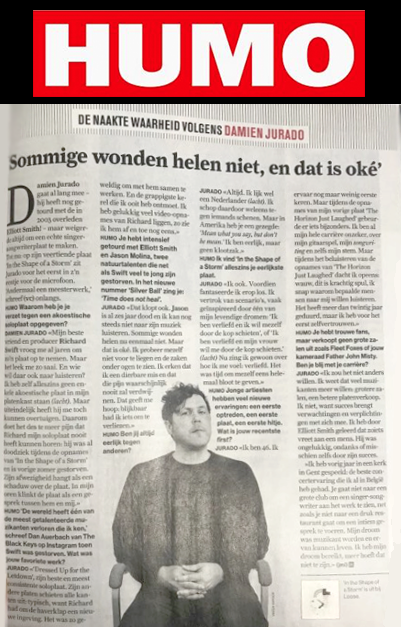 Damien Jurado, HUMO Interview, April 2019
