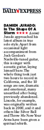 Damien Jurado - Scottish Daily Express - April 2019