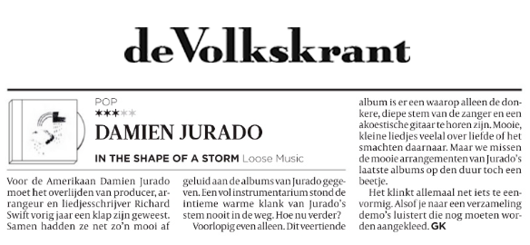 Damien Jurado - De Volkskrant - April 2019