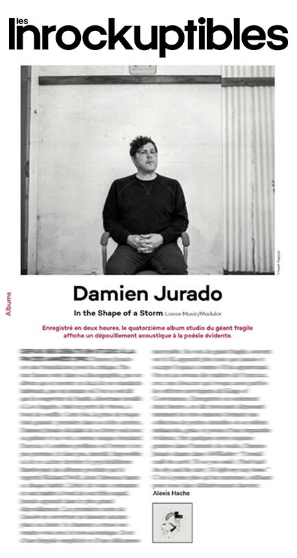Damien Jurado, Les Inrockuptibles (blurred), May 2019