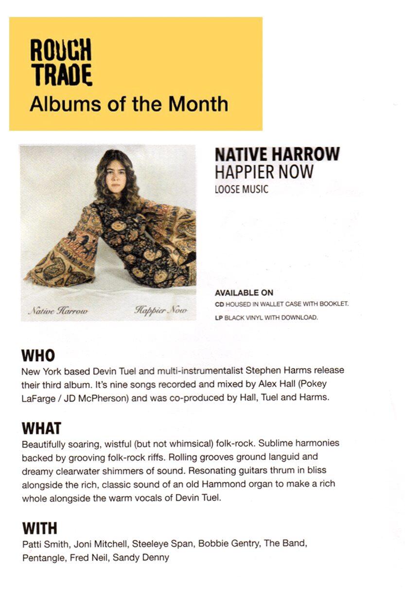 Native Harrow, Rough Trade AOTM, August 2019