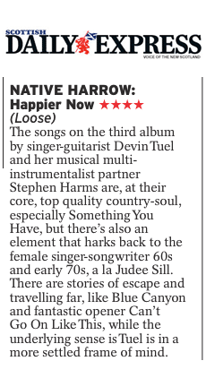 Native Harrow, Scottish Daily Express, 2nd August 2019