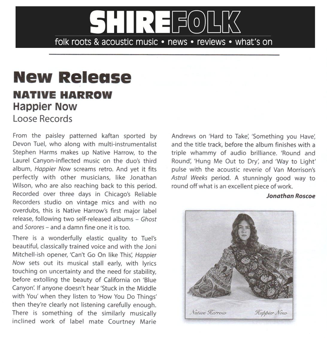 Native Harrow, Shirefolk, Sep-Oct 2019