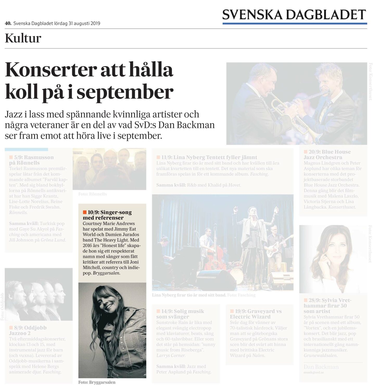 Courtney Marie Andrews - Svenska Dagbladet - 31 Aug 2019