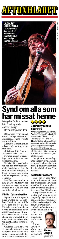 Courtney Marie Andrews, Aftonbladet, 11th September 2019