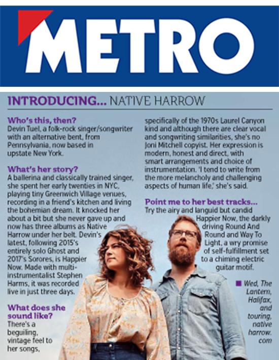 Native Harrow, Metro, Friday 6th Sep