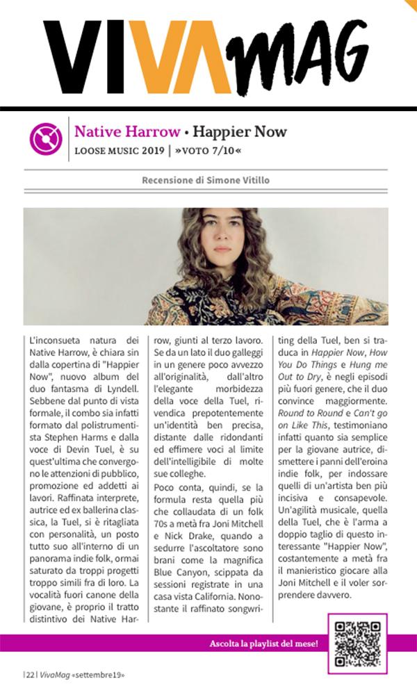 Native Harrow, Viva Mag, September 2019