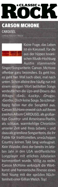 Carson McHone, Classic Rock, March 2019